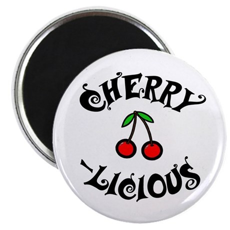 """'Cherry-licious' 2.25"""" Magnet (10 pack)"""