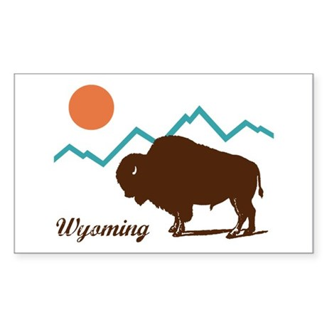 Wyoming Sticker (Rectangle)