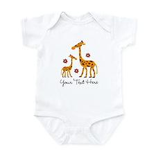 Custom Mother Daughter Giraffe Infant Bodysuit