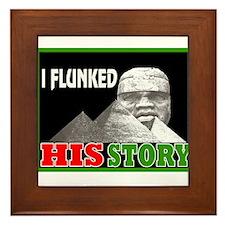 Black history dropout Framed Tile