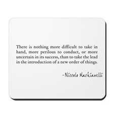 New Leadership - Machiavelli Mousepad
