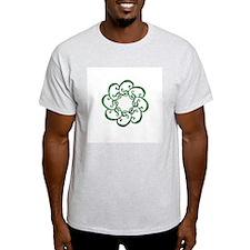 Leaves Mandala T-shirt (Gray)