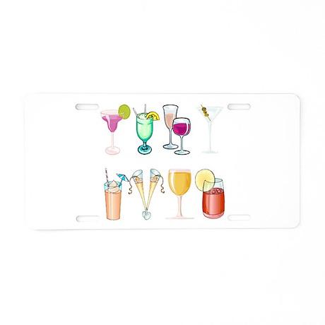 Cocktails Aluminum License Plate