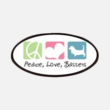 Peace, Love, Bassets Patches