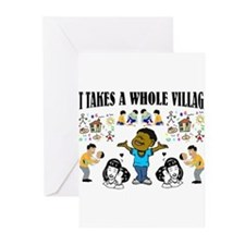 Childrearing Black children Greeting Cards (Pk of