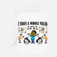 Childrearing Black children Greeting Card