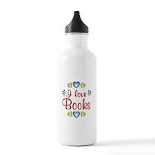 I Love Books Water Bottle