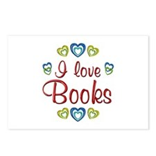 I Love Books Postcards (Package of 8)