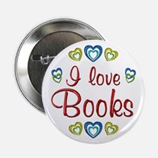 "I Love Books 2.25"" Button"