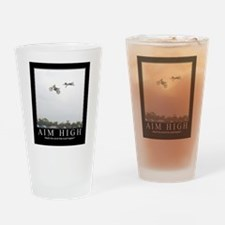 Funny Cycling frame Drinking Glass