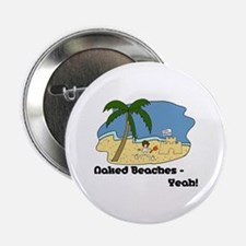 "Naked Beaches - Yeah! 2.25"" Button"