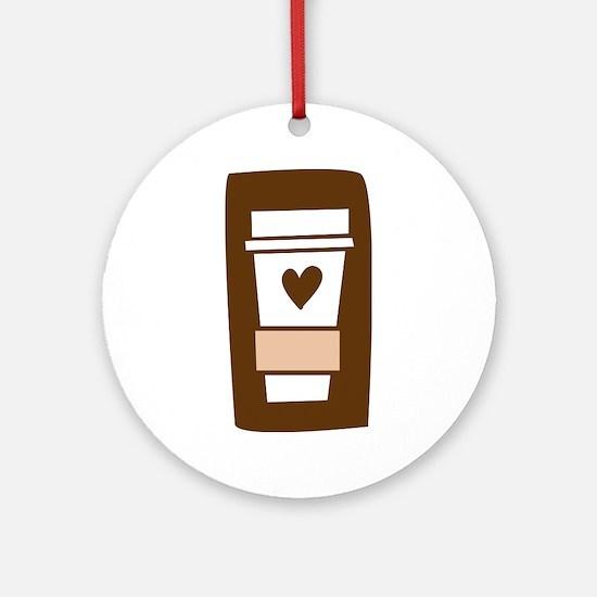 Latte Love Ornament (Round)