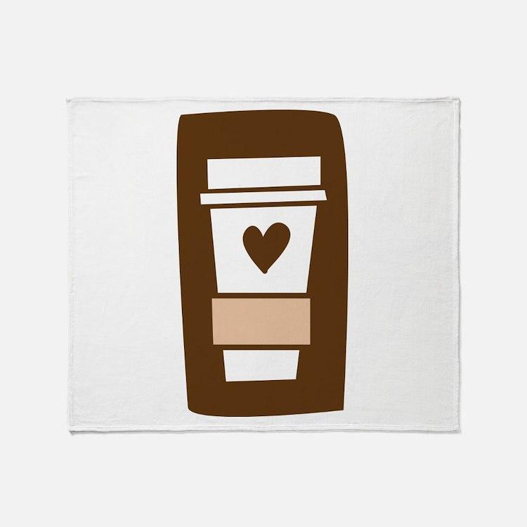 Latte Love Throw Blanket