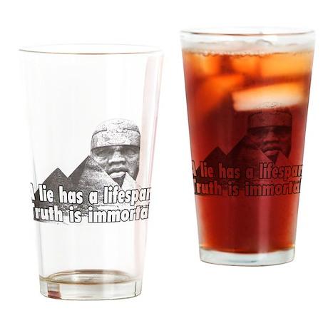 Black History truth won't die Drinking Glass