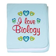 I Love Biology baby blanket