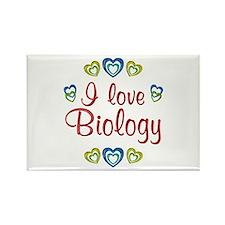 I Love Biology Rectangle Magnet