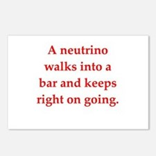 funny science joke Postcards (Package of 8)