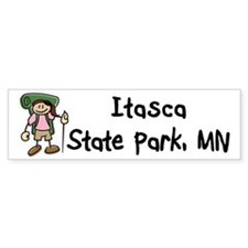 Hike Itasca (Girl) Bumper Sticker
