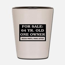 For Sale 64 Year Old Shot Glass