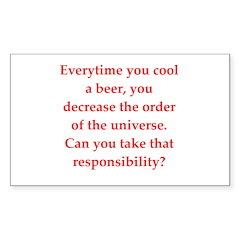 funny science joke Sticker (Rectangle 10 pk)