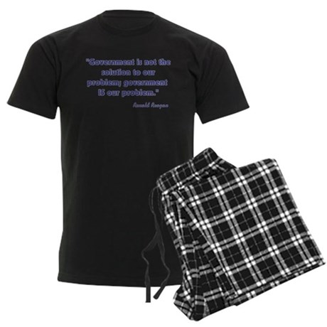 Government is not the solutio Men's Dark Pajamas