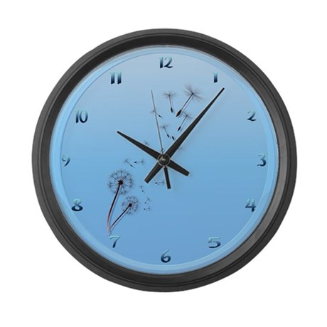 Dandelions Large Wall Clock