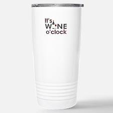 It's Wine O'Clock Stainless Steel Travel Mug