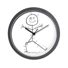 Acupuncture Sticky Wall Clock
