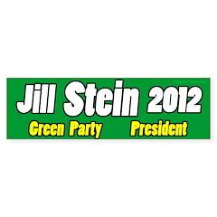 Jill Stein for President bumper sticker