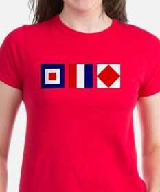WTF Nautical Signal Flags Tee