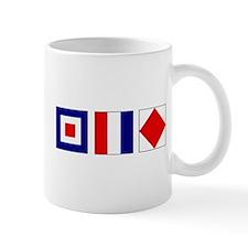 WTF Nautical Signal Flags Small Mug