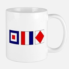 WTF Nautical Signal Flags Small Small Mug