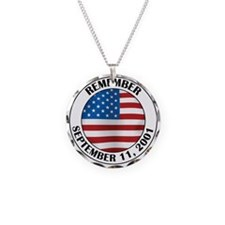 Remember 9-11 Necklace Circle Charm