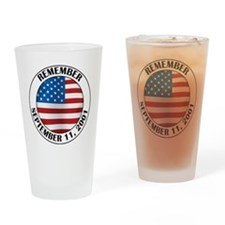 Remember 9-11 Drinking Glass