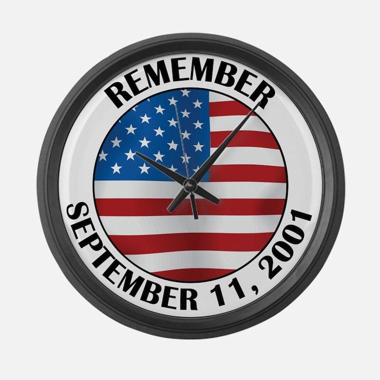 Remember 9-11 Large Wall Clock