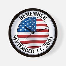 Remember 9-11 Wall Clock
