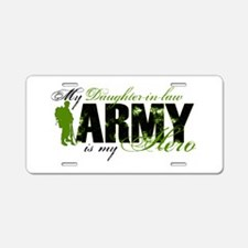 Daughter-in-law Hero3 - ARMY Aluminum License Plat