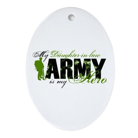 Daughter-in-law Hero3 - ARMY Ornament (Oval)