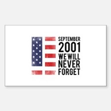 9 11 Remembering Sticker (Rectangle)