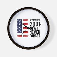 9 11 Remembering Wall Clock