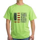 9 11 Green T-Shirt