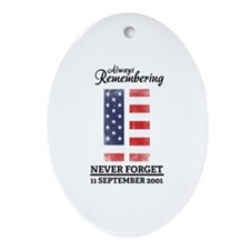 9 11 Remembering Ornament (Oval)