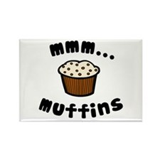 'mmm...Muffins' Rectangle Magnet