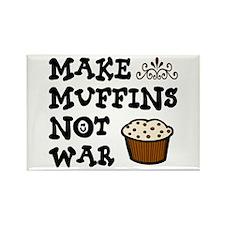 'Make Muffins' Rectangle Magnet