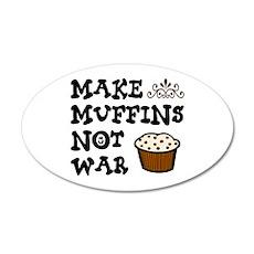 'Make Muffins' 22x14 Oval Wall Peel