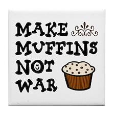'Make Muffins' Tile Coaster
