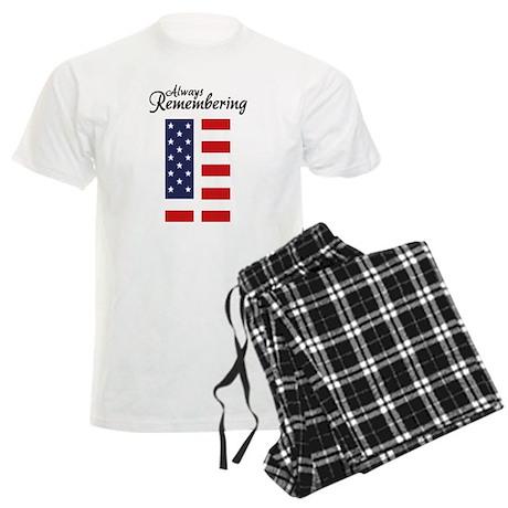 9 11 Remembering Men's Light Pajamas