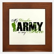 Daughter Hero3 - ARMY Framed Tile