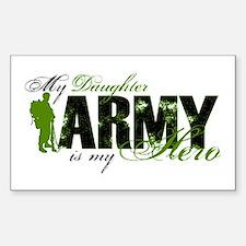 Daughter Hero3 - ARMY Sticker (Rectangle)