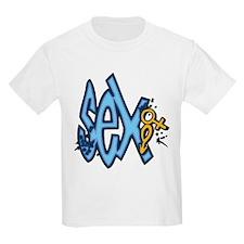 Blue Sex and Symbols T-Shirt